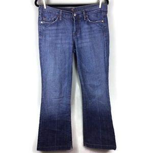 7 For All Mankind Dojo Trouser Leg Jeans Size 29